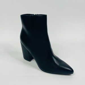 "Madden Girl Meeko Boot Size 8.5 Closed Pointed Toe 4"" Block Heel Zip Closure NEW"